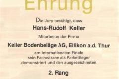 Ehrung Hans-Rudolf Keller